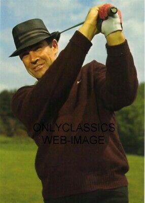 1964 Sean Connery As James Bond 007 Goldfinger Playing Golf Photo Sporting Hat