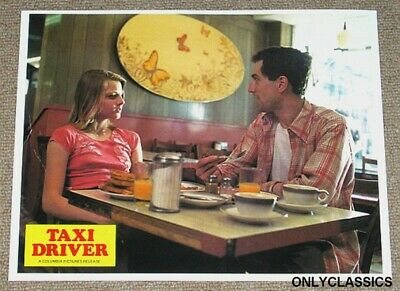 1976 Taxi Driver Movie Lobby Poster Jodie Foster Robert Deniro Eating Breakfast