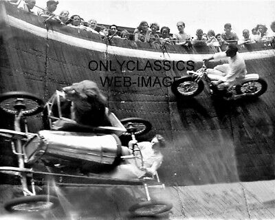 1919 GEORGE CONNORS AND BILL MANS SIDECAR MOTORCYCLE RACING ENDURANCE RACE PHOTO