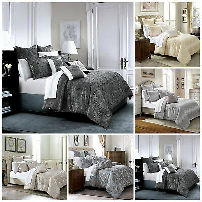 LUXURY Jacquard 3Piece Quilted Bedspread:Comforter Set With Pillow Cases UK Size