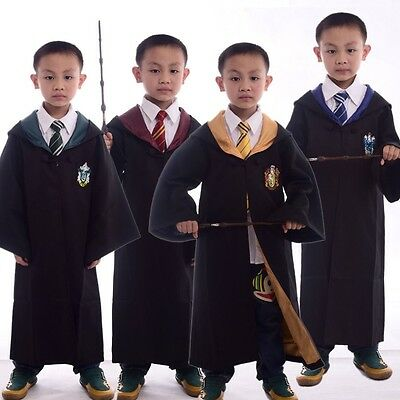 Harry Potter Kids Cosplay Costume Gryffindor/Slytherin/Hufflepuff/Ravenclaw Robe