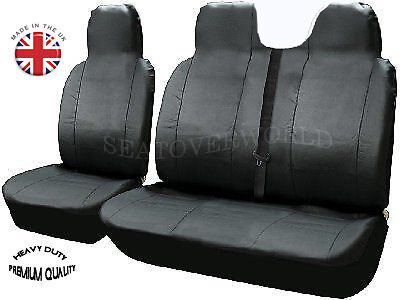Renault Master - Heavy Duty Leatherette Van Seat Covers - Single + Double