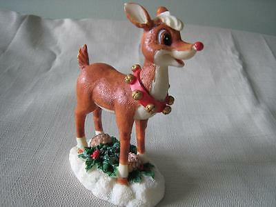 The Rudolph Co. RUDOLPH the RED NOSED REINDEER Resin Collectible Figurine AS IS