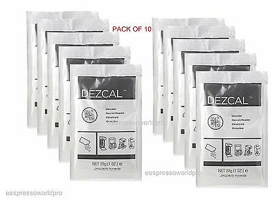 URNEX DEZCAL COFFEE MAKER & ESPRESSO DESCALER -  PACK of 10 SACHETS