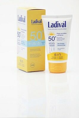Fotoprotector Solar Ladival SPF50+ Gel-Crema Facial Oil Free 75 ml