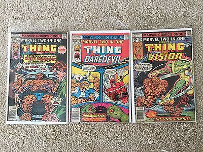 Marvel Two-In-One  Lot of 3  #'s 37, 38, 39 The Thing Bronze Age Marvel Comics