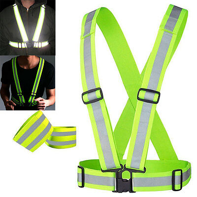 Hot Sports High Visibility Reflective Safety Belt Running Suspenders Walking