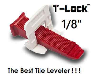"1/8"" T-Lock™  Tile leveling system complete KIT wall floor spacers clips leveler"