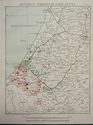 1918 WW1 EGYPTIAN EXPEDITIONARY FORCE ADVANCE THROUGH PHILISTIA 6pm 28 OCT 1917