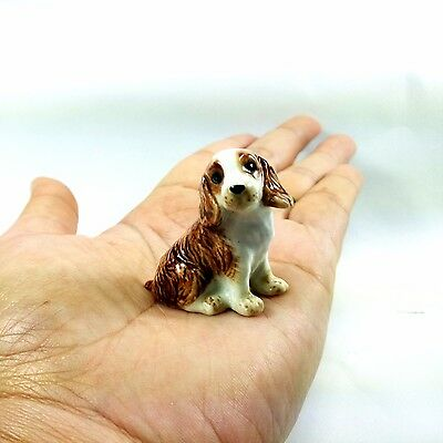 American Cocker Spaniel Miniature Puppy Dog Collectible Dollhouse Figurine New