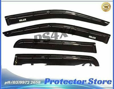 Superior Weathershields for 2005-2015 Toyota Hilux Window Visors Weather Shields