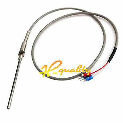 1M High Temperature Cable PT100 RTD with 6mm Thread Thermometer Sensor -70~500 ℃
