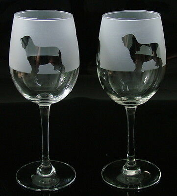Briard dog Wine Glasses classic tulip shape