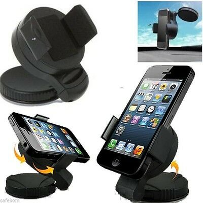 NEW Universal In Car 360° Windscreen Mount Holder Cradle For Mobile Phone GPS