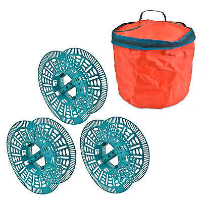 3 Christmas Fairy Tree Light Holder Reels Storage No Tangle Carry Bag