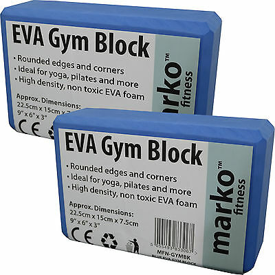 2 x Foam Exercise Gym Yoga Block Pilates Fitness Stretching  Aid Tool Pilates