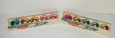 Vintage Classic Shiny Brite Christmas Ornaments 2 Box Set Lot Of 10 Mixed