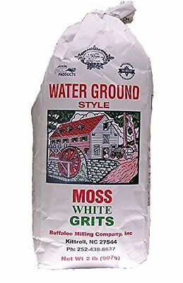 Moss Water Ground White Grits 2 Lbs