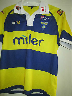 Warrington Wolves 2002-2003 Squad Signed Home Rugby League Shirt with COA /39459