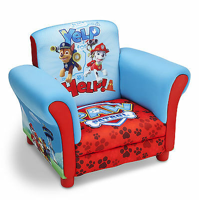 New Delta Children Paw Patrol Childs Upholstered Chair Kids Padded Armchair