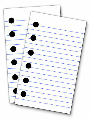 Lined Paper Refills for 3 x 5 Binders, 200 Sheets