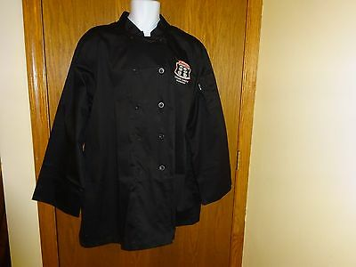 New Chef Works Black Chef Coat Size Xl Master Chef Young Chef's Academy