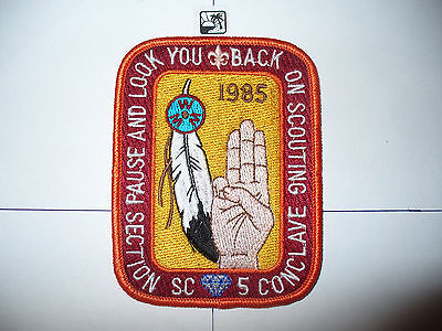 OA 1985 Area SC-5,Conference Patch,pp,DJ,137 HOST,60,72,99,137,272,578, Texas,TX
