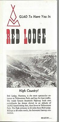 Vintage Brochure for Red Lodge Montana