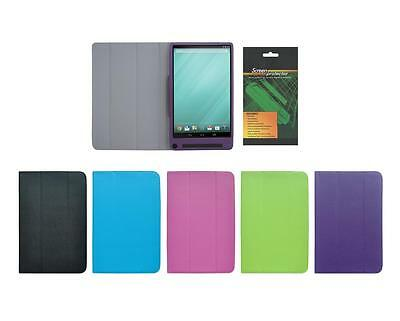 Folio Skin Cover Case and Screen Protector for Dell Venue 8 7000 / 7840 Tablet
