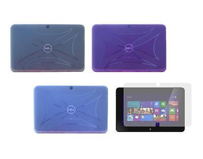 TPU Gel Skin Cover Case and Screen Protector for Dell XPS 10 Tablet