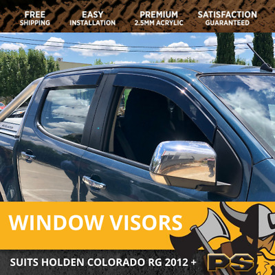 Superior Weathershields for 2012-2017 HOLDEN COLORADO RG Window Visors Weather S
