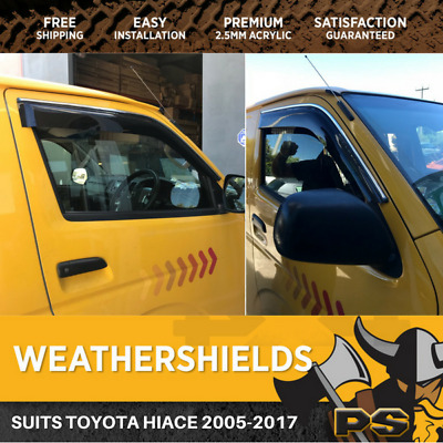 Superior Weathershields for Toyota Hiace 06-15 Window Visors Weather Shield