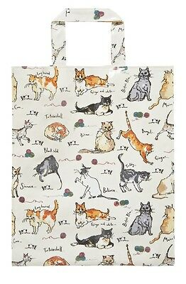 Cats Tote Bag Ulster Weavers PVC Medium Gusset Madeleine Floyd Tabby Ginger New