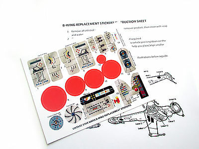 DIE CUT REPLACEMENT STICKERS for STAR WARS VINTAGE BWING 1984 B-WING FIGHTER
