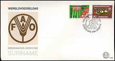 Suriname 1984 World Food Day FDC First Day Cover #C30268