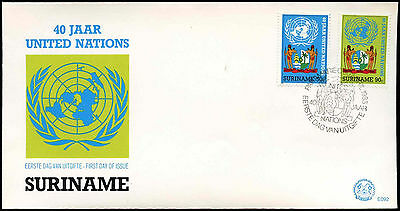 Suriname 1985, 40th Anniv Of United Nations FDC First Day Cover #C30276