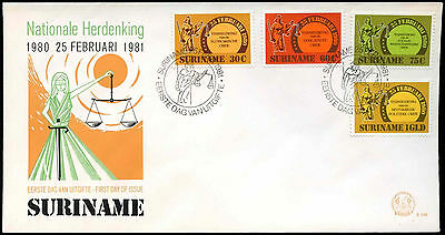 Suriname 1981 The Four Renewals FDC First Day Cover #C30221