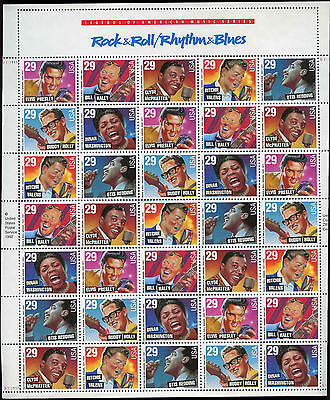 USA 1993 Rock & Rhythm And Blues Music MNH Complete Full Sheet #V3755