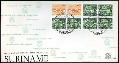 Suriname 1978 Air Booklet Pane FDC First Day Cover #C30184
