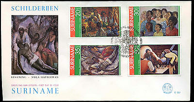 Suriname 1976 Paintings FDC First Day Cover #C30167