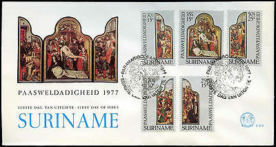 Suriname 1977 Easter FDC First Day Cover #C30174