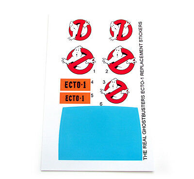 THE REAL GHOSTBUSTERS 'DIE CUT' REPLACEMENT STICKERS for KENNER ECTO-1 Ecto 1 ++