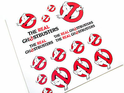 The Real Ghostbusters 'die Cut' Stickers  - Ghostbusters 'no Ghosts' Logo Set2