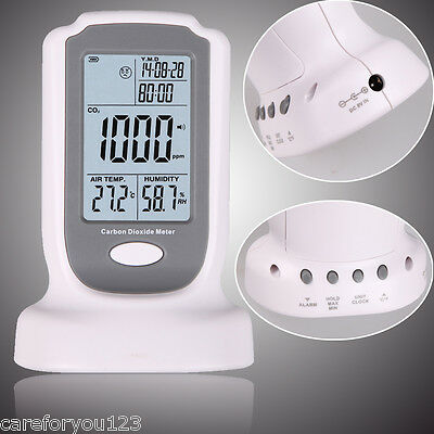 Professional LCD Carbon Dioxide Detector CO2 Monitor Temperature Humidity Meter