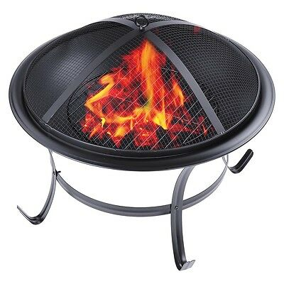 "22"" Outdoor Garden Fire Pit Grill Folding Metal Stove Fireplace Heater Brazier"