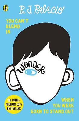 Wonder by R.J. Palacio (English) Paperback Book Free Shipping!