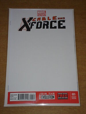 Cable And X-Force #1 Marvel Now Blank Variant