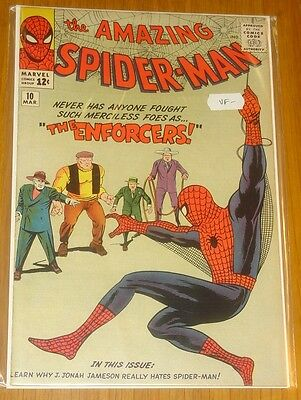 Amazing Spiderman #10 F/vf (7.0) March 1964 Steve Ditko Marvel Comics*