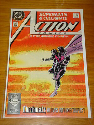 Action Comics #598 Dc Near Mint Intro Checkmate March 1988