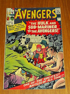 Avengers #3 Vg+ (4.5) Marvel  Hulk Thor Ironman Sub-Mariner January 1964 *